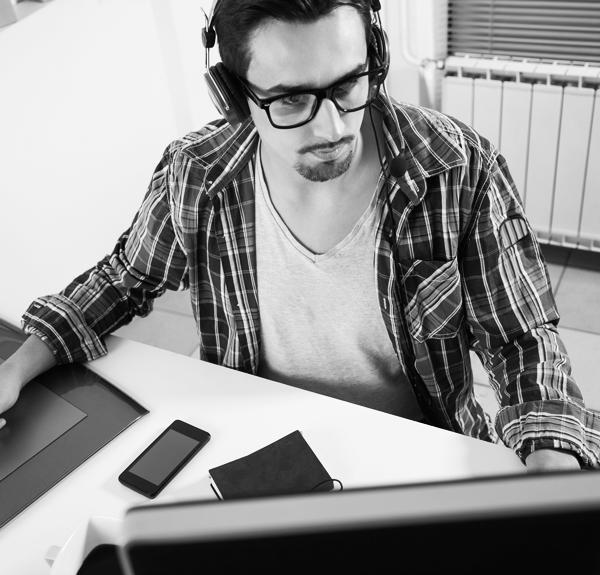 Student vid dator